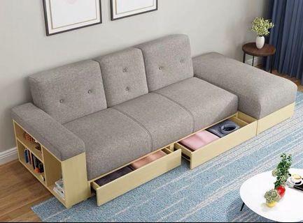 4大收納功能梳化床連腳踏