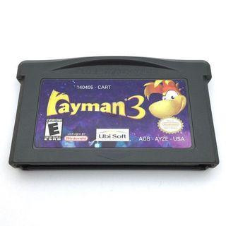 (淨帶) (中古) 原裝美版 GameBoy GBA Game Rayman 3 雷射超人 過關動作遊戲