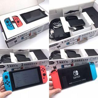 (中古) 原裝正品 Nintendo Switch NS Console 彩色主機 (#特價)
