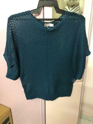 Knitted crop top cardigan women