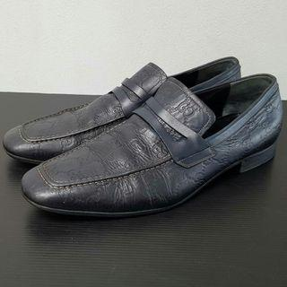 Gucci GG Monogram Driver Black Dressing Loafers