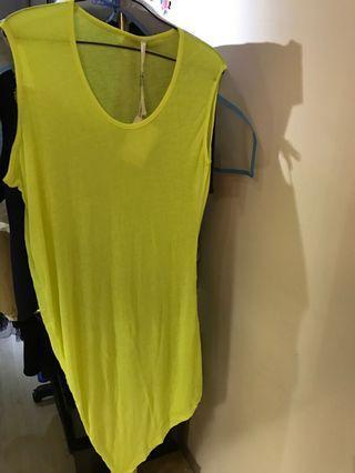 瑩光黃長打底裙