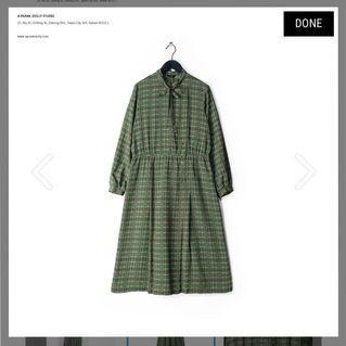 🚚  A Prank Dolly Vintage抹茶綠格紋古著洋裝