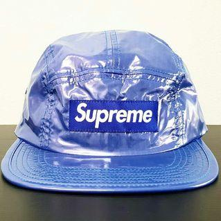 Supreme FW16 Glossy Ripstorm Blue Camp Cap