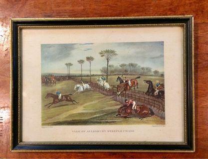 Vale of Aylesbury Steeple Chase Art Print & Framed