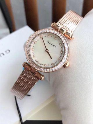 Gucci Classic Rose crystal bezel Ladies watch/ Hari Raya Sales!
