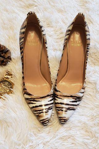 Stuart Weitzman Animal Print Patent Leather Heels