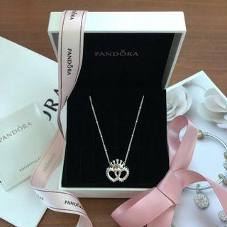 Pandora Necklace United Regal Hearts