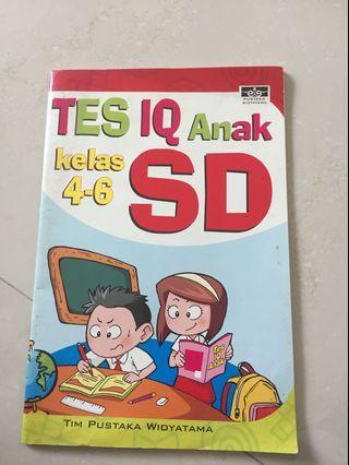 Buku Test IQ anak kelas 4-6 SD