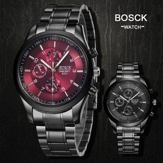 BOSCK Men's Business Casual Steel Jam Tangan Watch 8251