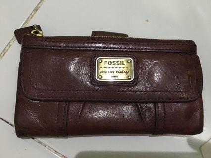 Fossil emory long wallet