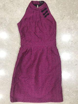 🚚 Cheongsam Purple (Classy Textured Lovely)