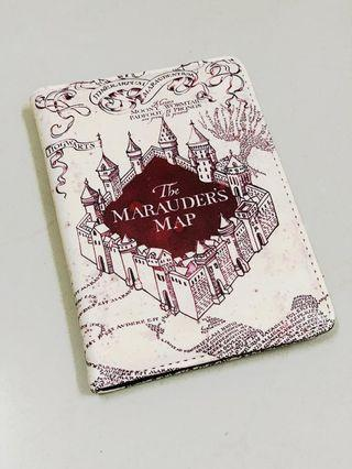 Harry Potter Series Passport Cover PU Leather Holder The Marauders Map