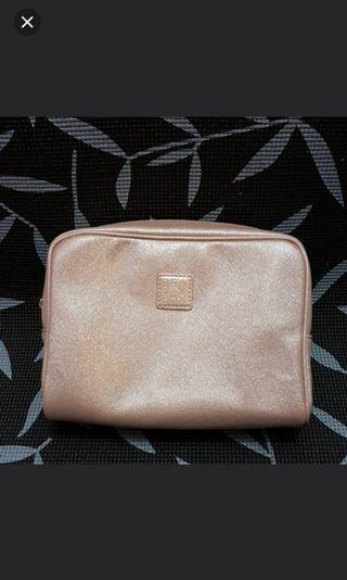Beauty Box Pink Shimmer Pouch- Tas kosmetik