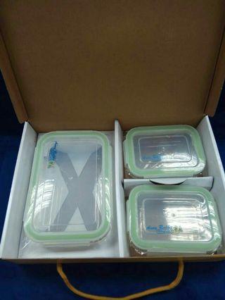 🚚 (保鮮盒)安妮兔 玻璃保鮮盒(840ml*1+330ml*2)