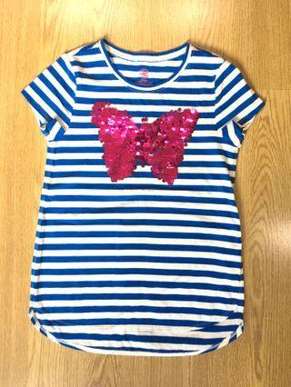 J Khaki Striped sequins Top size M