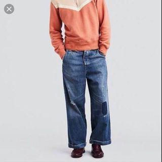 半價 全新 Levi's LVC 氣球褲 寬褲 老褲 w29