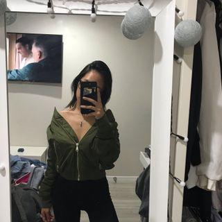 Top shop size 8 bomber jacket khaki,  navy blue and black