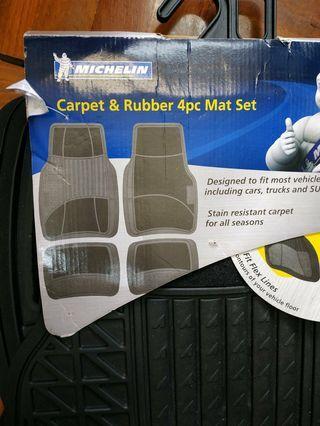 Michelin carpet & rubber 4 pcs mat車用地墊,米芝蓮