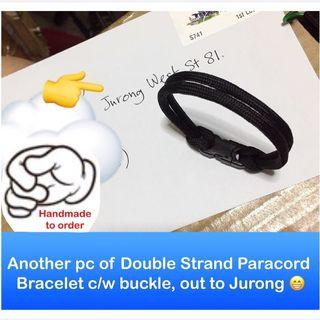 Double Strand Paracord 550 Bracelet c/w buckle customized to your wrist size [ Paracord550 gifts handmade; uncle anthony] FOLLOW THIS LINK B4 U CHAT TO ORDER: 👉  http://carousell.com/p/158624534
