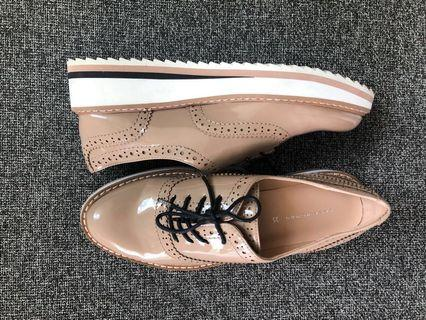 Nude Patent Leather Oxfords