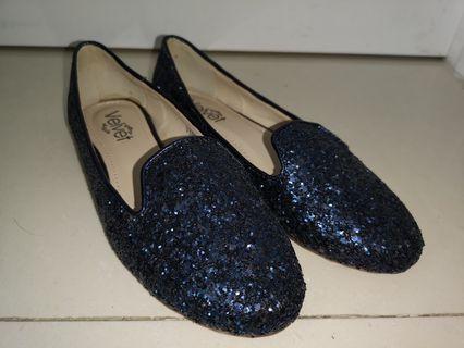 女裝平底鞋 (藍色閃石)