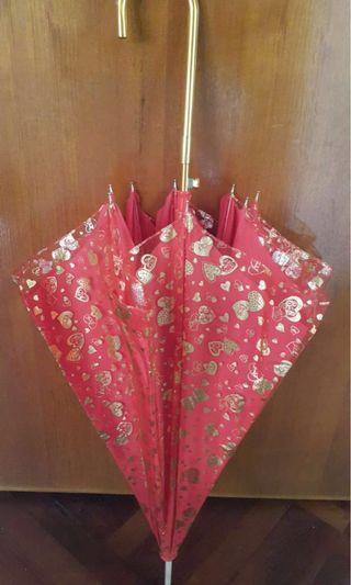 結婚傘 結婚遮 紅傘 紅遮 結婚用品