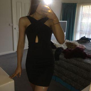 Black Mini Dress (Backless / Low back)