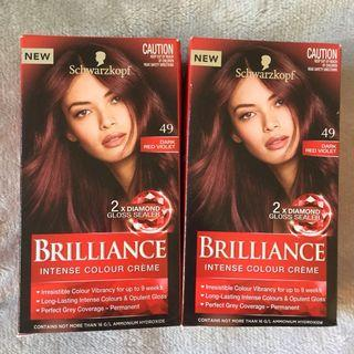 Schwarzkopf hair dye - dark red violet