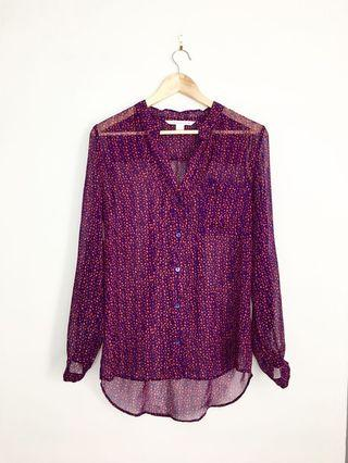 DVF Diane von furstenberg floral silk blouse 4