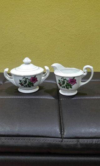 Vintage Bunga Kangkung creamer and sugar pot