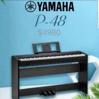 全新 YAMAHA P-48 電子琴 電子鋼琴  另有售大量二手鋼琴 及 上門鋼琴調音