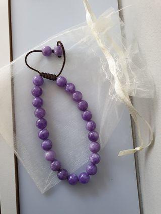 🚚 Purple bead bracelet