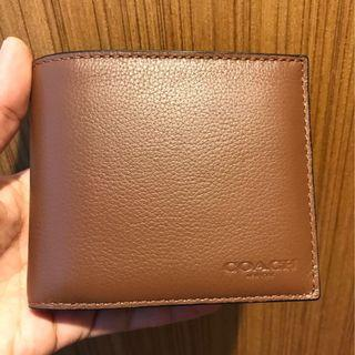 BN 💯 Authentic Coach Mens wallet in brown calf leather