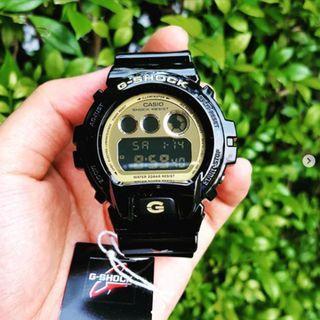 Original G-Shock DW6900CB Black-Gold Tone Digital Dial