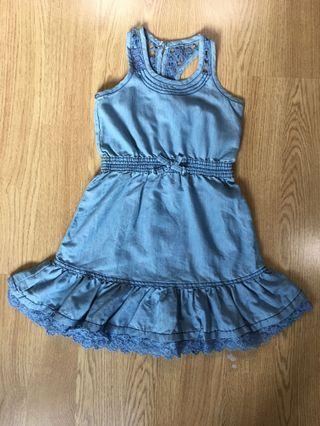 Fox kids denim dress