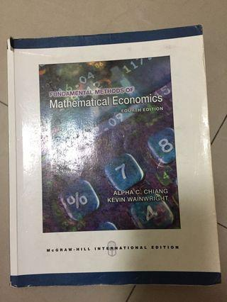 mathematical economics(大學教科書)