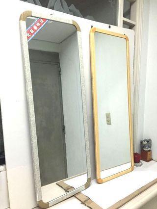 壁鏡 穿衣鏡 儀容鏡 (黃色已售出)