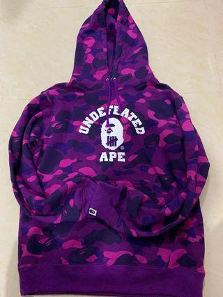 Bape x undefeated 紫迷彩