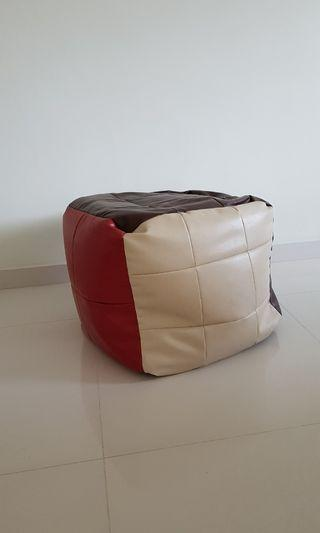 Cube bean bag for seating