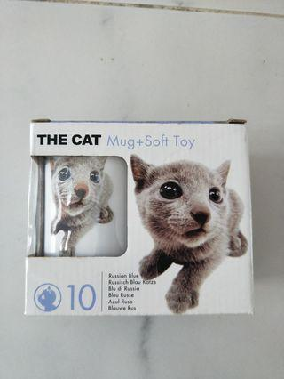 The cat mug+soft toy