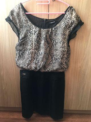 Dress loreng hitam