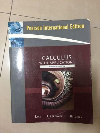 CALCULUS WITH APPLICATIONS(大學教科書)