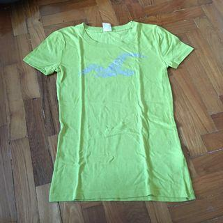 Hollister lime green tee