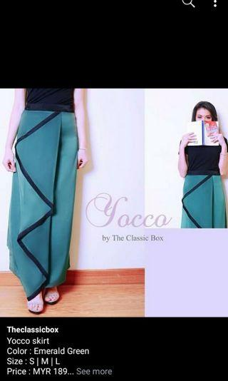 The Classic Box Women Long Skirts (Emerald Color)