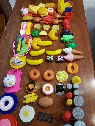 Assorted food toys