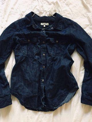 Jag denim chambray top size 10