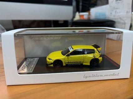 全新未開封 Ignition Model IG 1/64 PANDEM CIVIC EG6 Yellow - Tarmac Works Exclusive Colour (not tiny tomica)