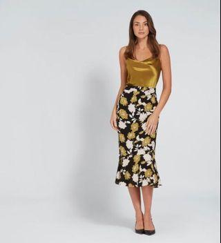 Seed Floral Fit & Flare Skirt Size 6