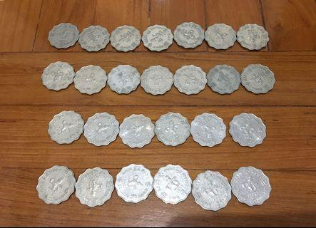 1975 ~ 1990年 2圓女皇頭硬幣 26個 (不散賣) 收藏品
